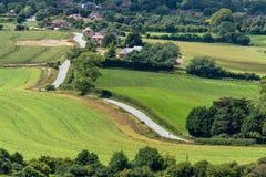 SUSSEX, UK/EUROPE - 24 JUNI: De toneelmening van het Zuiden verslaat binnen Royalty-vrije Stock Afbeeldingen