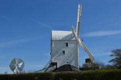Sussex windmill on the Sussex Southdowns. Stock Photo