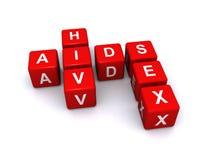 Sussidi HIV e sesso Fotografie Stock Libere da Diritti