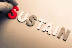 Sustain Stock Photo