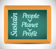 Sustain message illustration design Stock Image