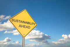 Sustainability Ahead Stock Photo