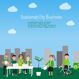 Sustainability business concept worker  vector. illustration EPS Royalty Free Stock Photos