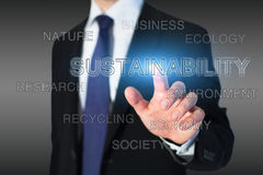 Sustainability. Concept, cloud of keywords Stock Photos