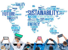 Sustainability Environmental Conservation Ecology Concept Stock Image