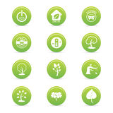 Sustainability icons Royalty Free Stock Image