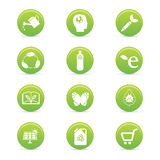 Sustainability icons Royalty Free Stock Images