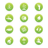 Sustainability icons Stock Images