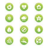 Sustainability icons Royalty Free Stock Photography
