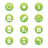 Sustainability icons Royalty Free Stock Images