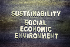 Sustainability. And Social, Economic, Environment for sustainable development business concept Royalty Free Stock Photo