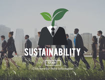 Sustainability Think Green Ecology Environment Concept.  Royalty Free Stock Photography