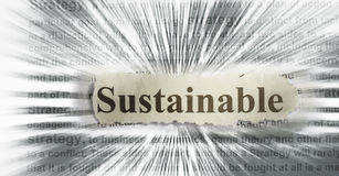 Sustainable. Abstract with blur- definition in radial blur Stock Images