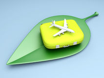 Sustainable air travel Stock Image