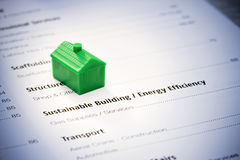 Sustainable Building House royalty free stock images