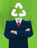 Sustainable businessman head Stock Photos