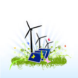 Sustainable clean energy design Royalty Free Stock Photos