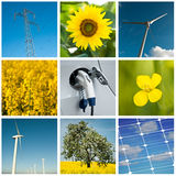 Sustainable development collage Stock Photo