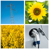 Sustainable development collage Stock Image