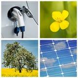 Sustainable development collage Stock Photos