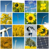 Sustainable development collage Royalty Free Stock Images