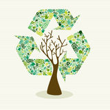 Sustainable development hand made tree Royalty Free Stock Photos