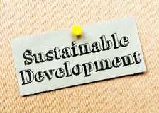 Sustainable Development Message Stock Image