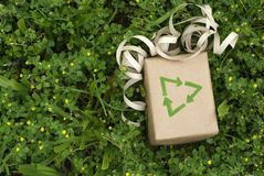 Sustainable Eco green gift Stock Photo
