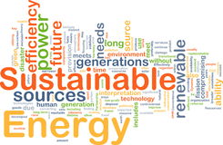 Sustainable energy background concept Royalty Free Stock Photos