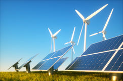 Sustainable energy concept Royalty Free Stock Photo