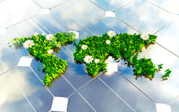 Sustainable energy 3d illustration Royalty Free Stock Image