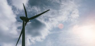Sustainable energy generated by windmill turbine royalty free stock photos