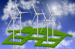 Sustainable energy and house Stock Image