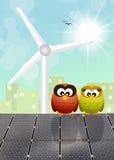 Sustainable energy. Illustration of solar panels for sustainable energy Royalty Free Stock Image