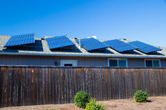 Sustainable Energy Solar Panels Stock Image