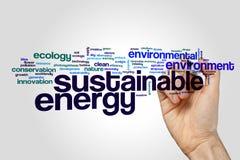 Sustainable energy word cloud Stock Photo