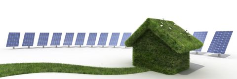 Sustainable house Stock Photo