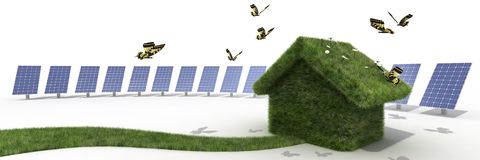 Sustainable house Stock Photography