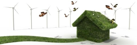 Sustainable house Stock Images