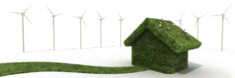 Sustainable house Royalty Free Stock Image