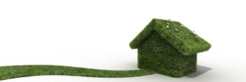 Sustainable house Royalty Free Stock Photos