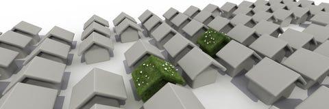 Sustainable house stock illustration