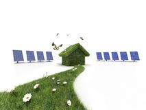 Sustainable house Stock Photos