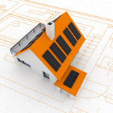 sustainable house plan Royalty Free Stock Images