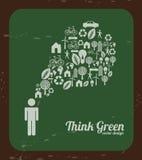 Sustainable icons Stock Photo