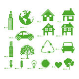 Sustainable icons Stock Image