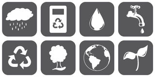 Sustainable Icons Royalty Free Stock Photos