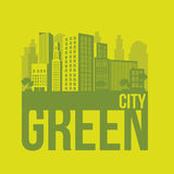Sustainable. Illustration of green ecological city, sustainable, vector illustration Royalty Free Stock Images