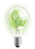 Sustainable light bulb Stock Photo