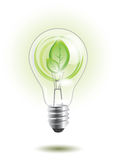 Sustainable light bulb Royalty Free Stock Photos